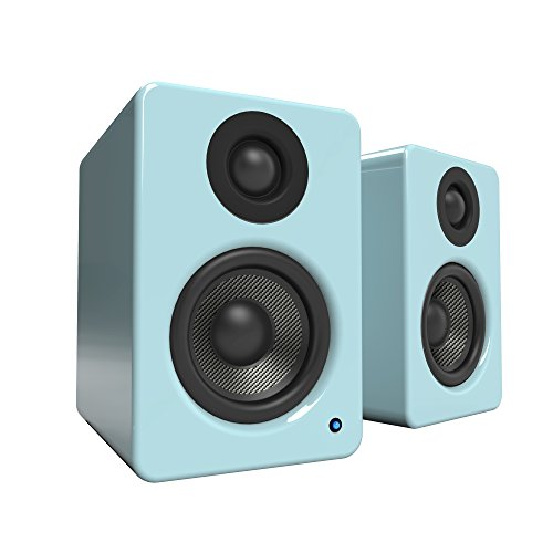 Kanto 2 Channel Powered PC Gaming Desktop Speakers – 3' Composite...