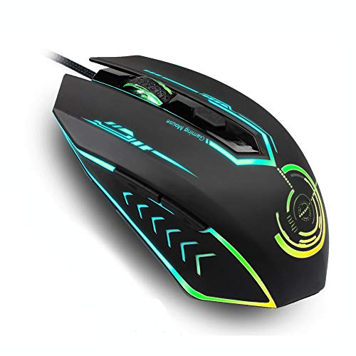 Gaming Mouse Wired, UHURU Gaming Mouse with 6 Programmable Buttons, 4...