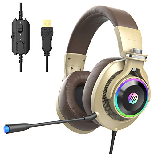 HP USB PC Gaming Headset with Microphone. 7.1 Surround Sound, RGB LED...