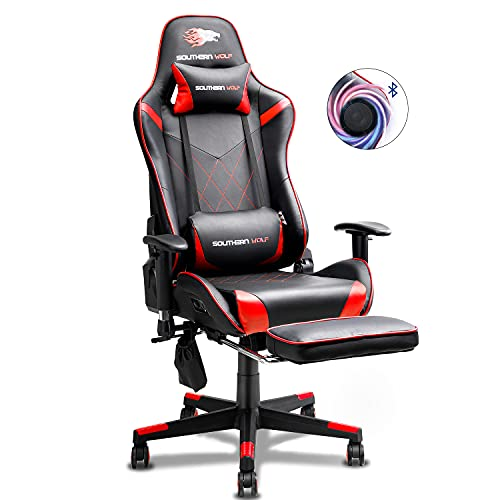 SOUTHERN WOLF Gaming Chair Racing Style Office Chair with Foldable...
