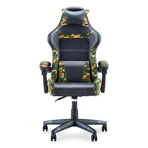 Game Chair Camo Camouflage Office Gaming Chair High Back Video Game...