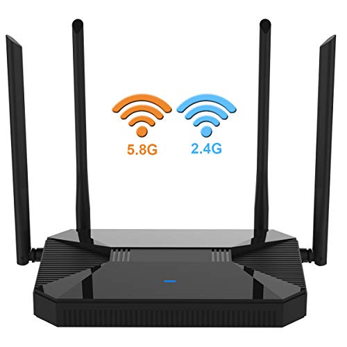 【Newest 2020】 Wireless WiFi Router High Speed Gaming Router Up to...