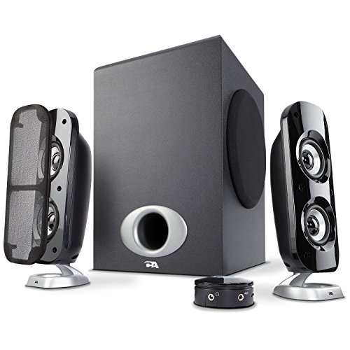 Cyber Acoustics High Power 2.1 Subwoofer Speaker System with 80W of...
