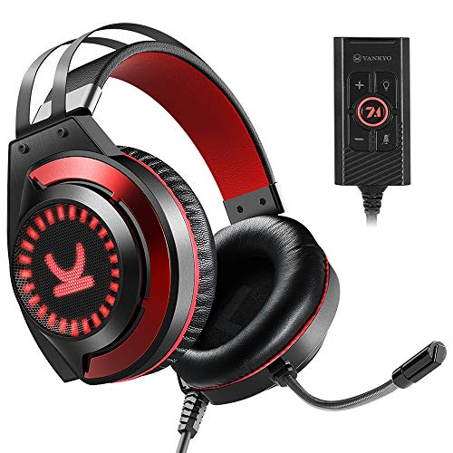 VANKYO Gaming Headset CM7000 with Authentic 7.1 Surround Sound Stereo...