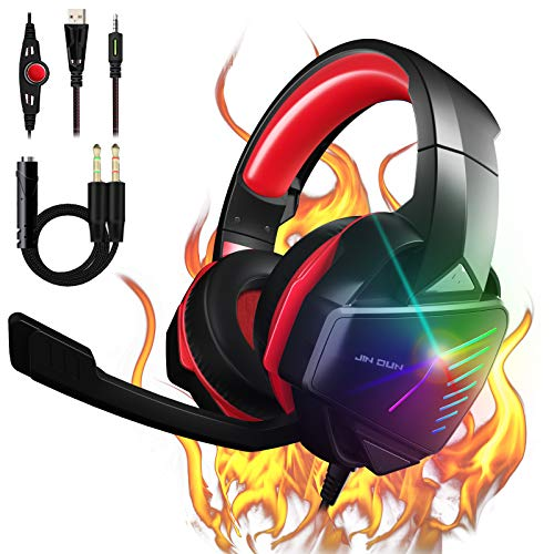 PS4 Headset Gaming Headset Xbox One Headset with 7.1 Stereo Surround...